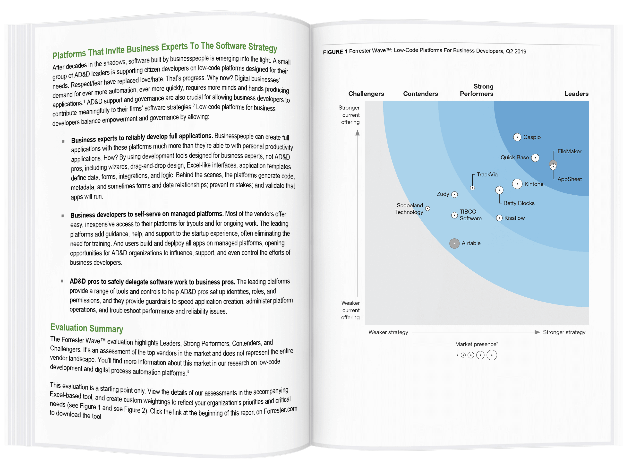 Forrester Wave: Low-Code Development Platforms 2019 for Business Developers