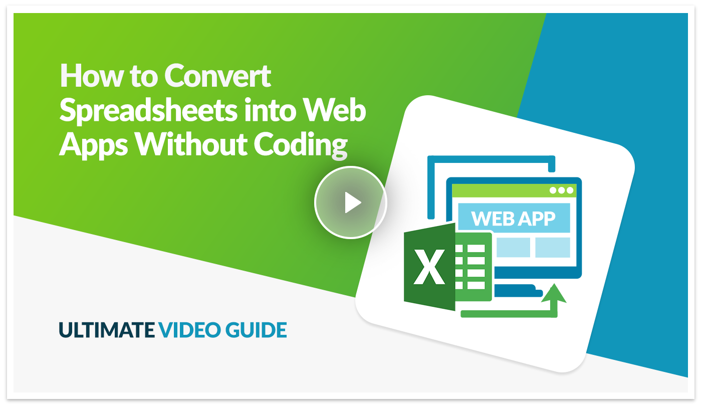 Ultimate video guide preview on how to convert spreadsheets into web apps in Caspio