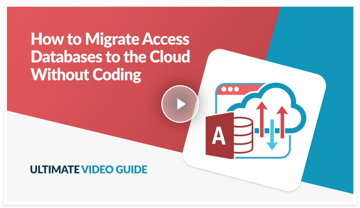 Ultimate video guide preview on how to migrate Access databases to the cloud using Caspio