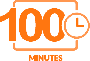 One Hundred minutes of content icon