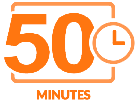 Fifty minutes of content icon