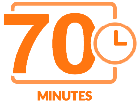 Seventy minutes of content icon