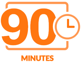 Ninety minutes of content icon